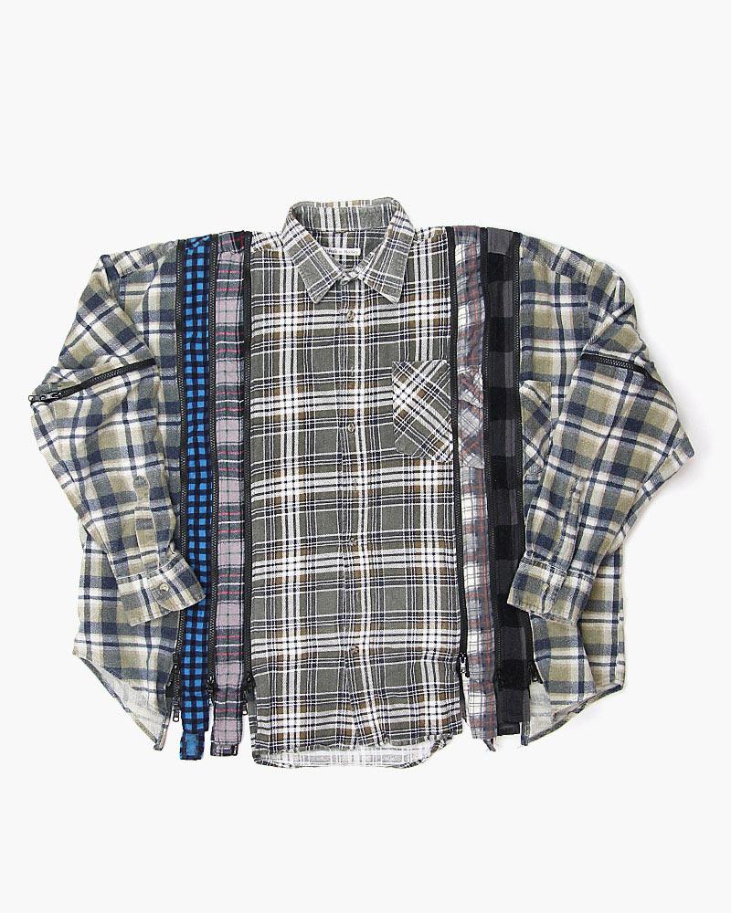 ニードルス 7カットジップワイドシャツ Needles 7 Cuts Zipped Wide Shirt