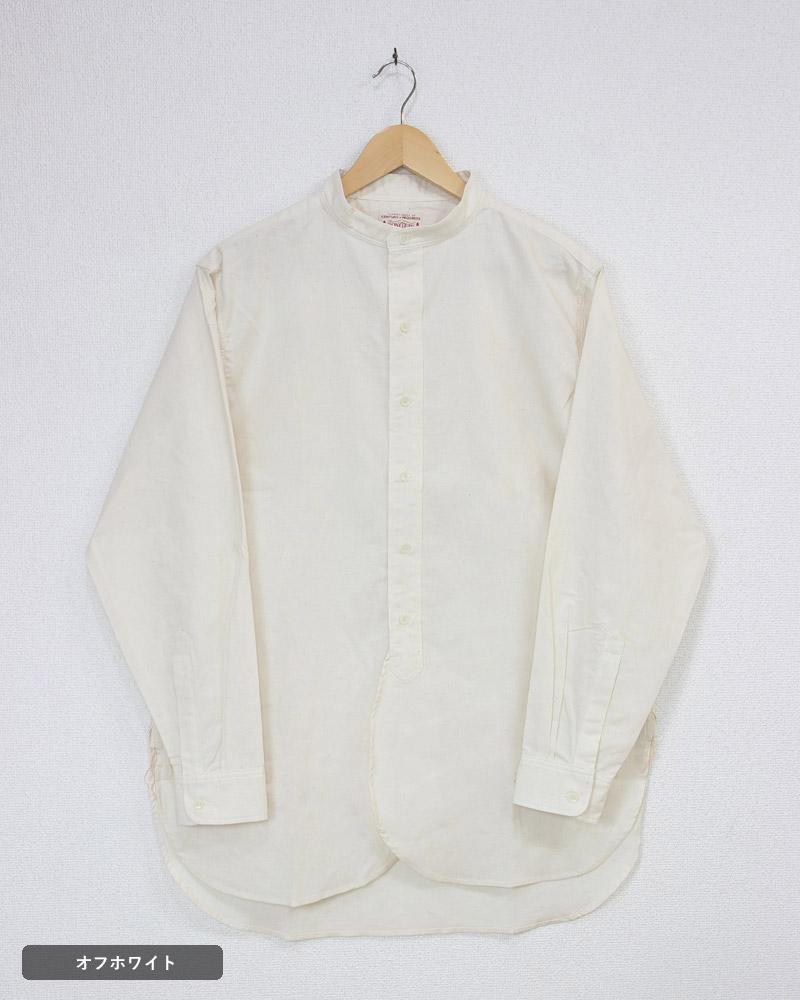 ボンクラ バンドカラーシャツ BONCOURA BAND COLLAR SHIRT