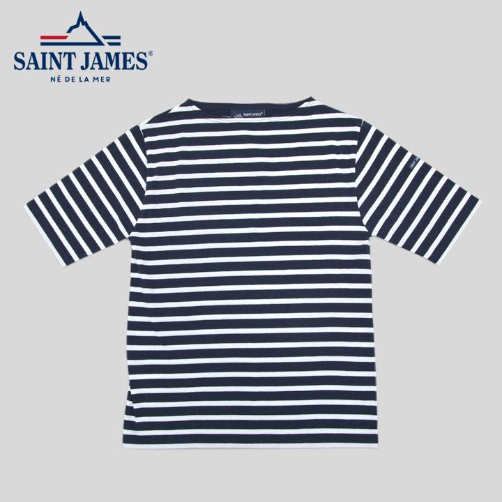 セントジェームス SAINT JAMES ピリアック 半袖 PIRIAC MARINE/NEIGE ネイビー ホワイト