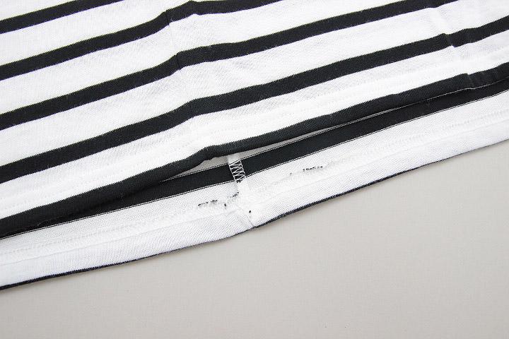 セントジェームス SAINT JAMES ピリアック 半袖 PIRIAC NEIGE/NOIR ホワイト ブラック