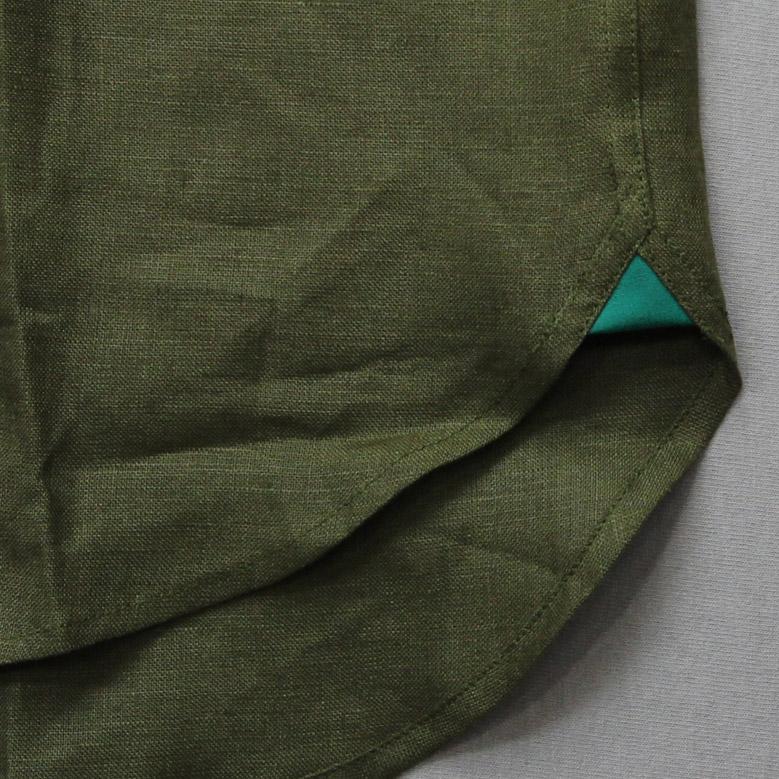 ジェームスモルティマー ロングスリーブバンドカラーシャツ James Mortimer L/S Band Collar Shirt