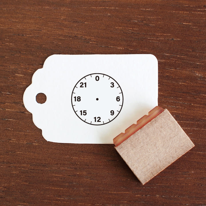 時計 24時間表記 バーチカルサイズ(b-129)