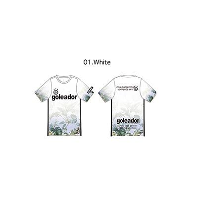 フラワーグラデーションプラシャツ(半袖)(大人用)・goleador(ゴレアドール)G-2323