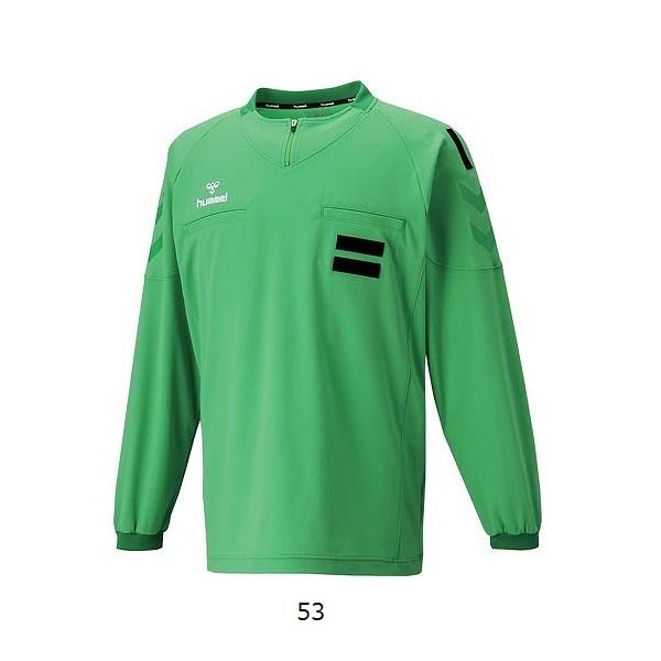 レフリーL/Sシャツ(長袖)・hummel(ヒュンメル)HAK5004【大きいサイズも有り】