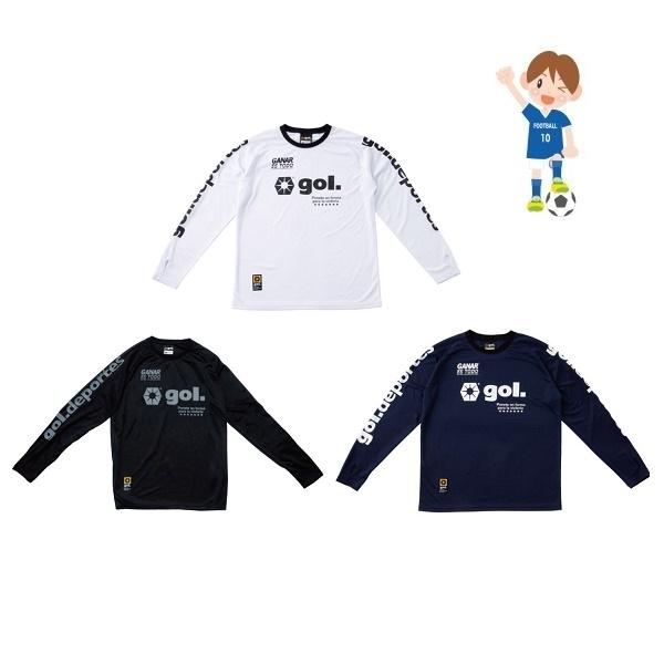 Jr.長袖プラクティスシャツ<Basic>・ gol.(ゴル)G141-576J