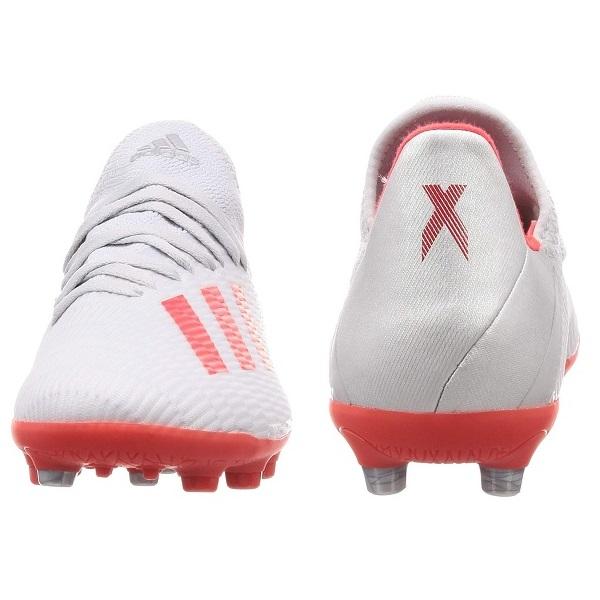 【20%OFFセール】93 エックス19.3-JFAHG/AGJ ジュニア用サッカースパイク・adidas(アディダス)EF9106シルバーメット/ハイレゾレッド S18/ランニングホワイト