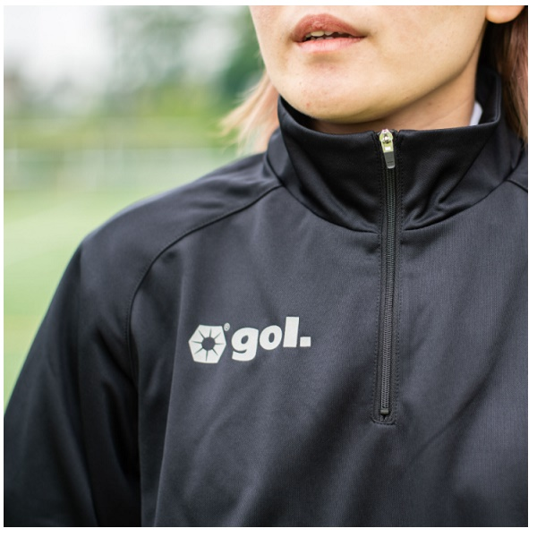 ハーフジップジャージー トップ・ gol.(ゴル)G925-084