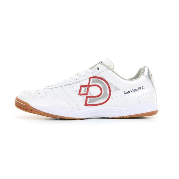ボアビスタKI2(パールホワイト×ミラーシルバー×レッド)(インドア用フットサルシューズ/体育館)Desporte(デスポルチ)DS-1433【送料無料】