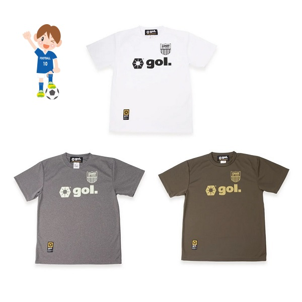 Jr.ドライシャツ(BANDEIRA)(ジュニア用)・ gol.(ゴル)G192-808J