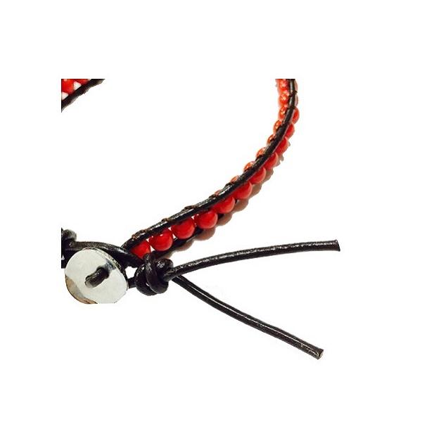 VC-AC-004 viver(ヴィヴェール) ラップブレス(赤珊瑚(染))【ゆうパケット可】