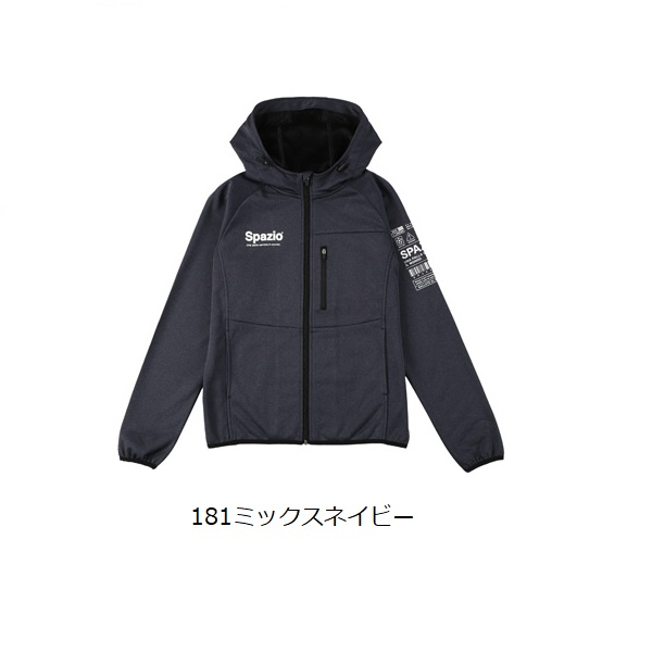 Jr.裏シャギートレーニングジップパーカー・Spazio(スパッツィオ)TP-0575