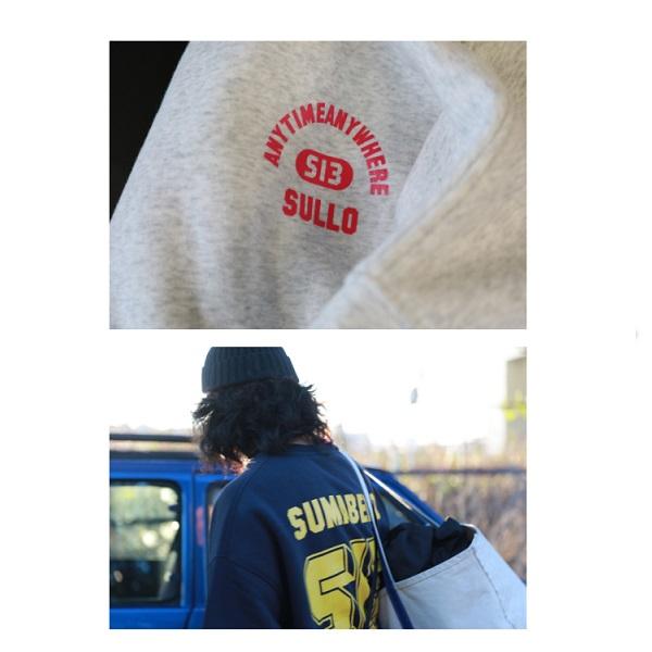 スウェットシャツBIG SILHOUETTE SWEAT SHIRT・sullo(スージョ)1233001007