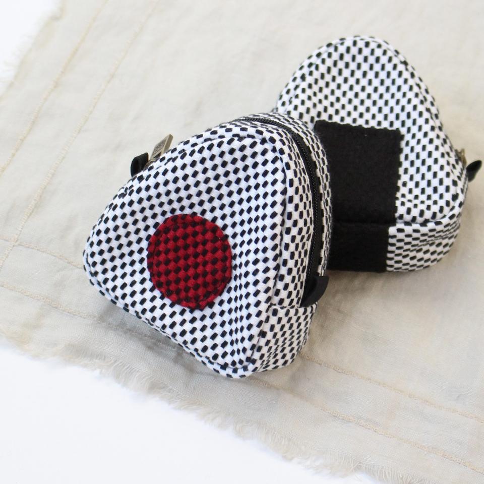 刺子織おにぎりポーチ / うめ