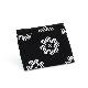 刺子織ジップ小銭入れ クローバー/黒