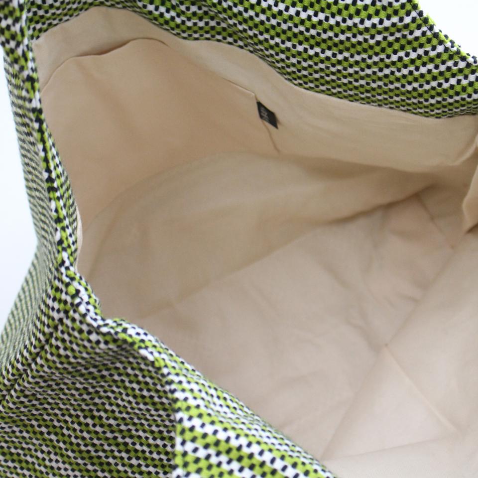 【新作】刺子織フェミニンバッグ フランス縞 / 深緑