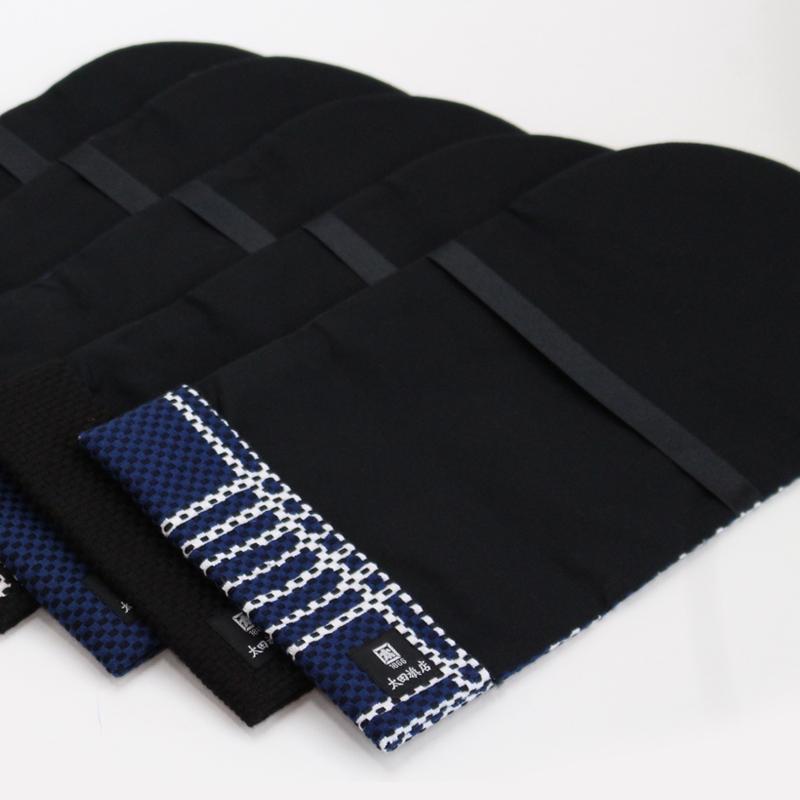 刺子織ブックカバー(文庫本) 無地/紺