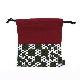 巾着袋 / 市松(カーキ)刺子織×綿