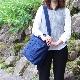 刺子織2Wayバッグ 市松(中)/からし×無地/黒