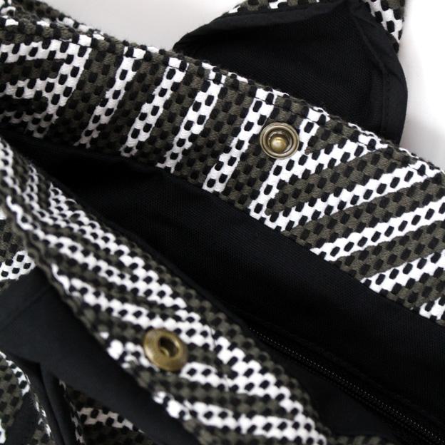 刺子織三口トートバッグ L 重ね松/ピンク