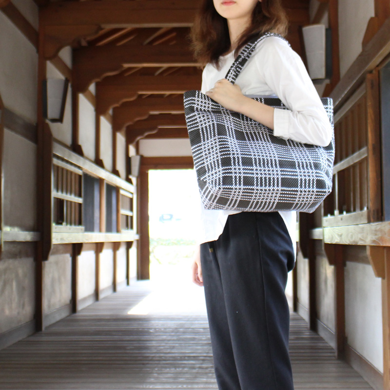 刺子織トートバッグ L なごみ(七五三) 【紺】