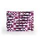 刺子織シンプルポーチL(マチなし) 市松ミックス/紫
