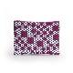 刺子織シンプルポーチS(マチなし) 市松ミックス/紫
