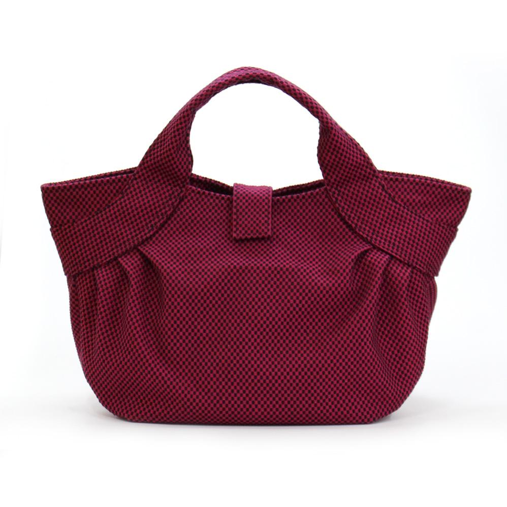 刺子織すずらんトートバッグ 無地/紫