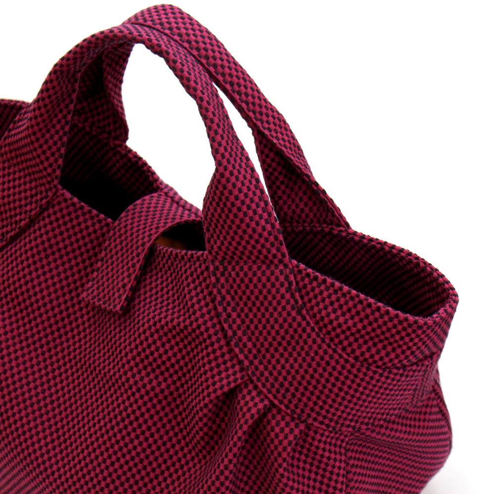 刺子織すずらんトートバッグ 無地/黒
