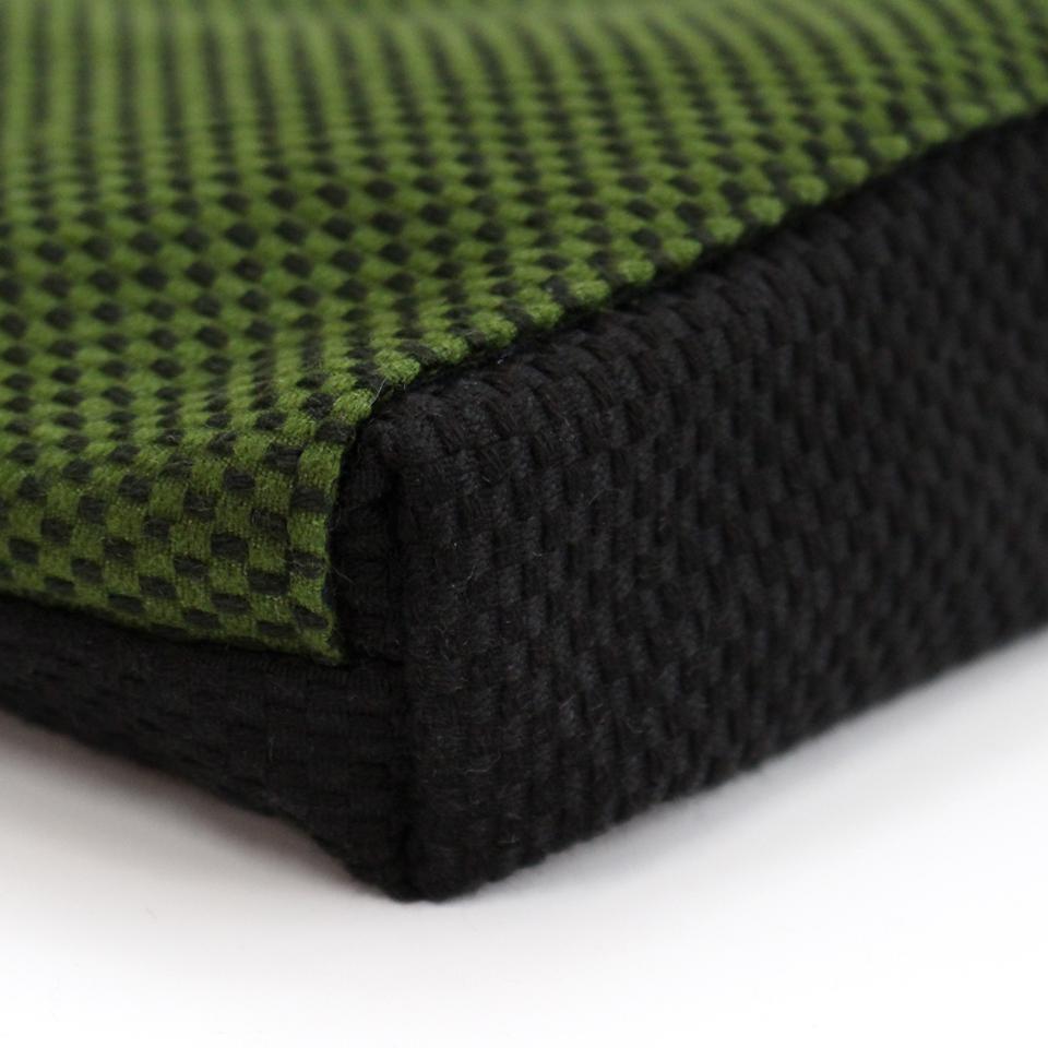 刺子織おさんぽバッグ 市松ミックス/ 黒×赤