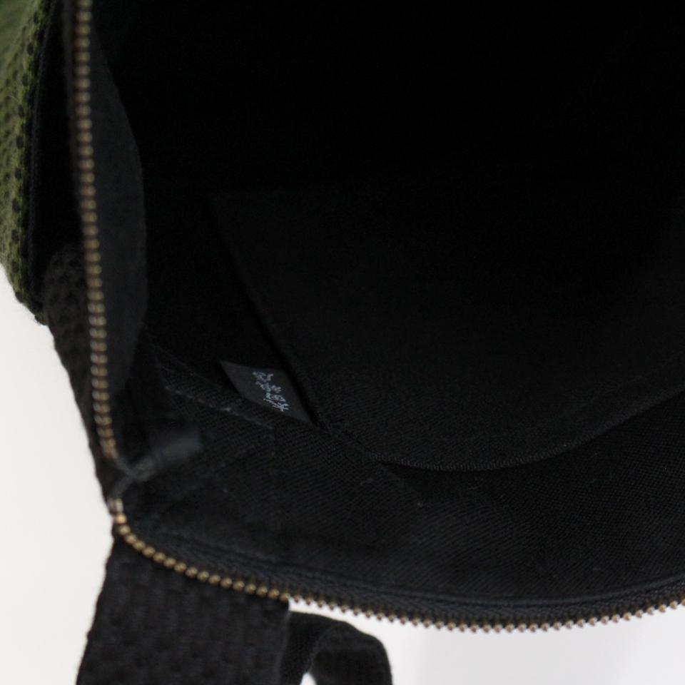 刺子織おさんぽバッグ 市松ミックス/ 紺×赤