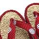 刺子織草履 (カリプソ)  水玉/赤