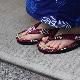刺子織草履 (カリプソ)  水玉/紫
