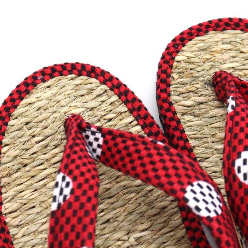 刺子織草履 (カリプソ)  水玉/ピンク