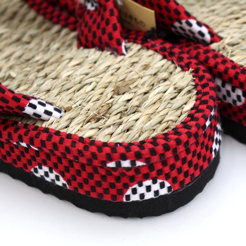 刺子織草履 (カリプソ)  クローバー/赤