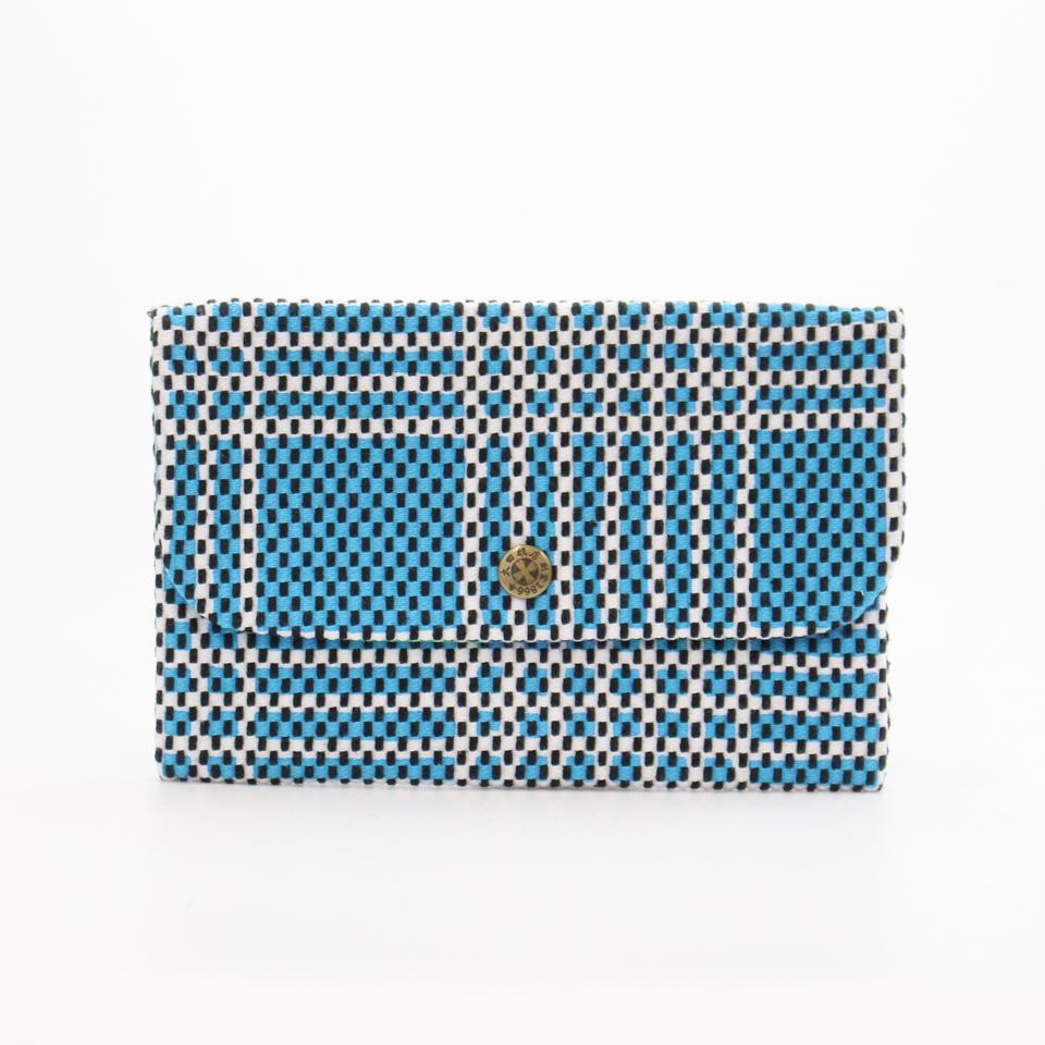 刺子織通帳ケース なごみ/水色
