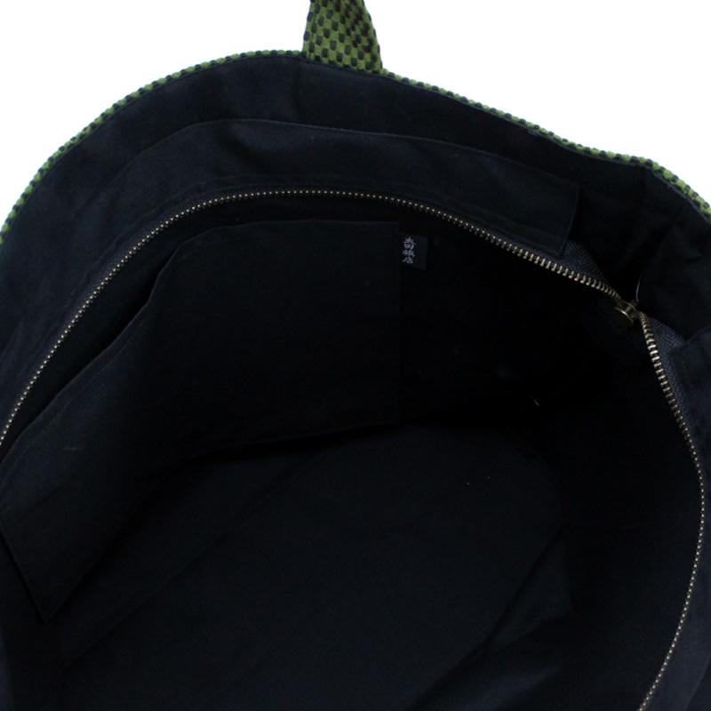 刺子織トートバッグ L 市松 【全3色】
