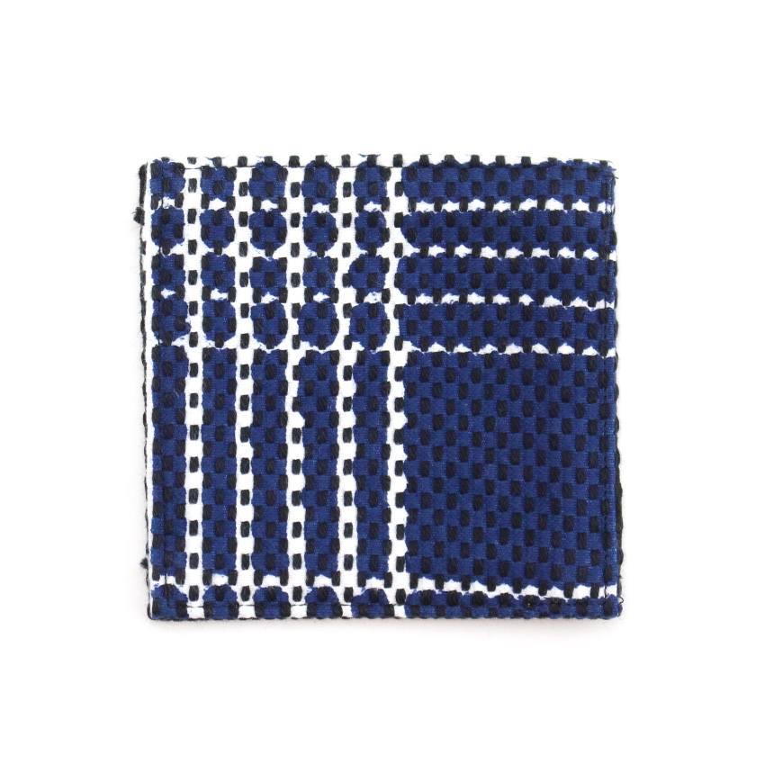 刺子織コースター なごみ/紺