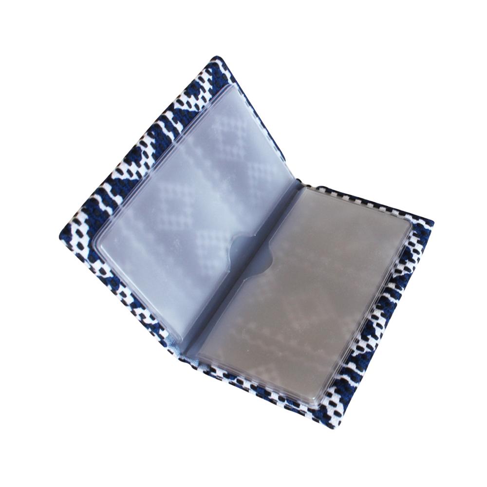刺子織カードケース 水玉 /カーキ
