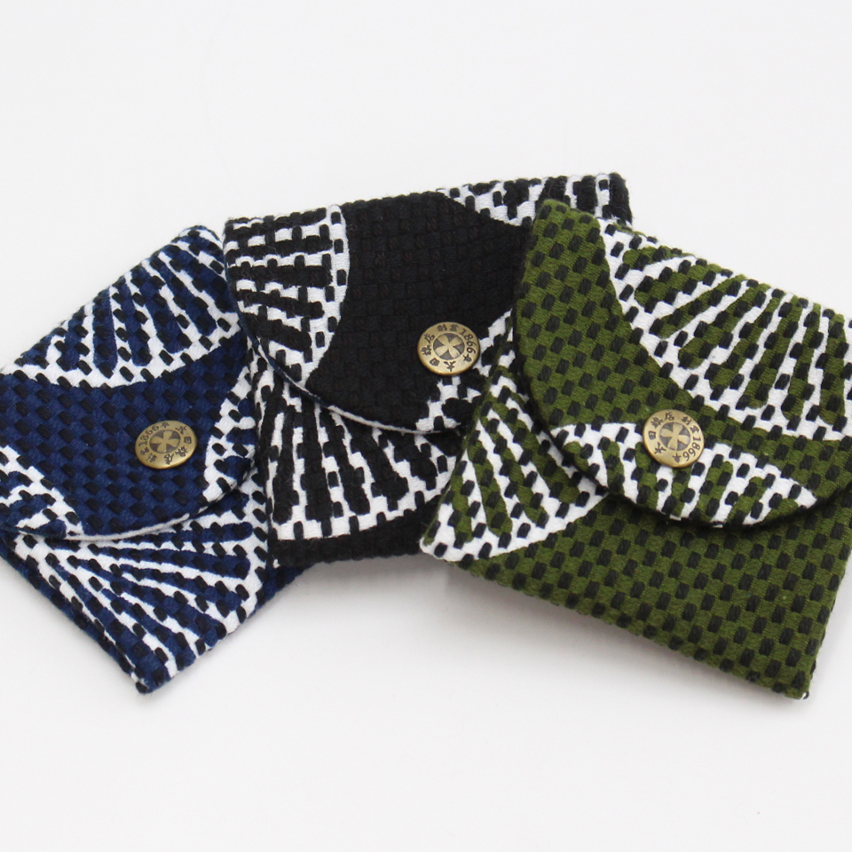 刺子織小銭入れ 重ね松 【全3色】