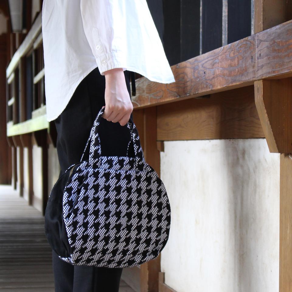 【新作】刺子織マリーバッグ フランス縞 / 薄青