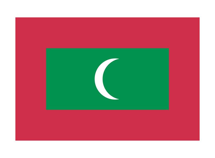 モルディブ 地球にやさしい国旗・外国旗