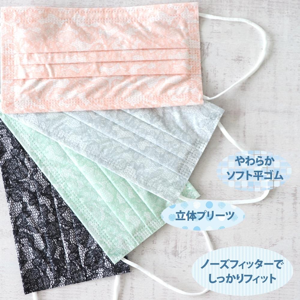 レースクールアイスマスク 30枚入 接触冷感 不織布 レース柄 【個包装ではございません】 【メール便不可】