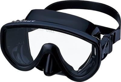 ダイビング用品 GULL  アビーム ブラックシリコンマスク