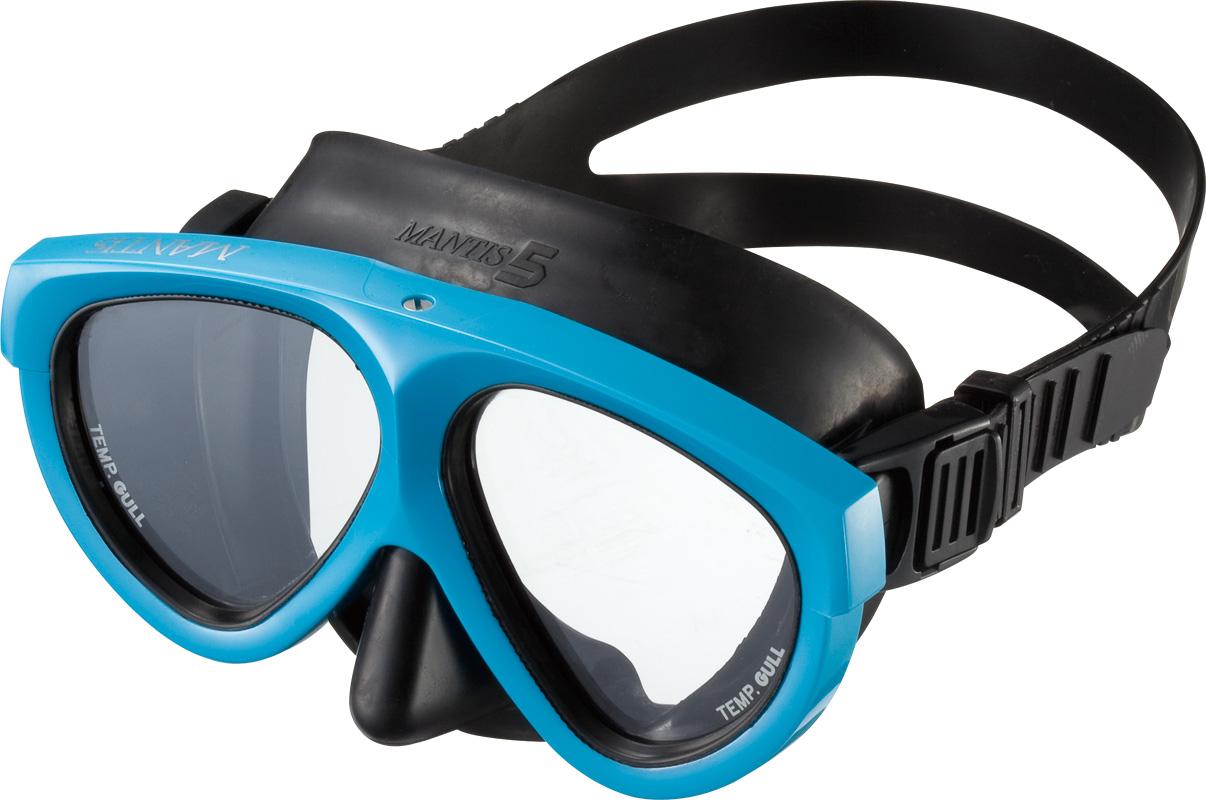 ダイビング用品 GULL マンティス5 ラバー マスク