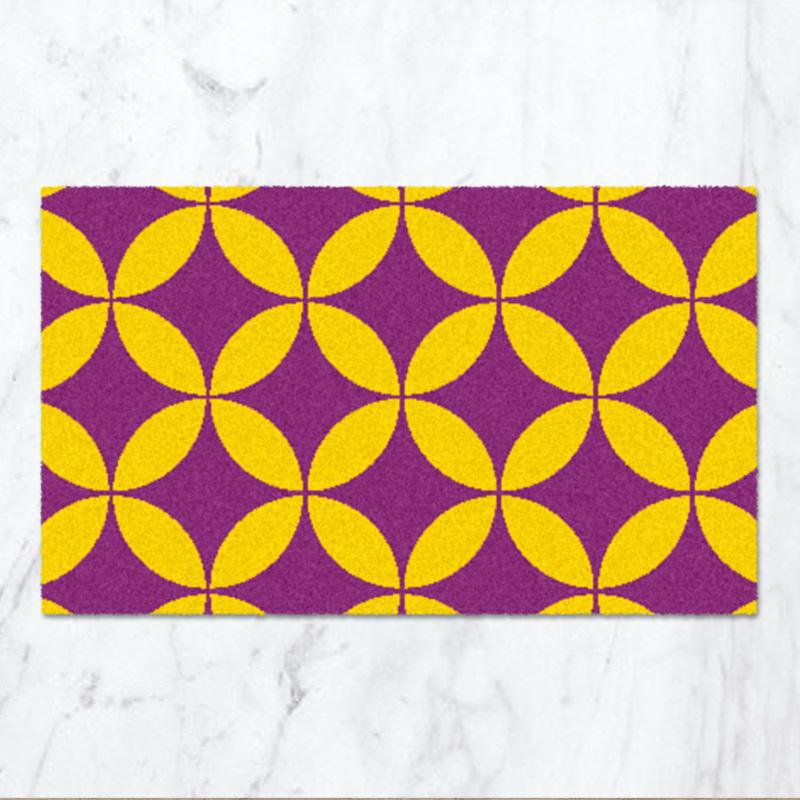 和モダンデザイナーズ玄関マット_SHIPPOU(紫色)