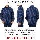 ウォバッシュシャツ ワークシャツ ストライプシャツ インディゴブルー ブラック アメカジ 送料無料 日本製