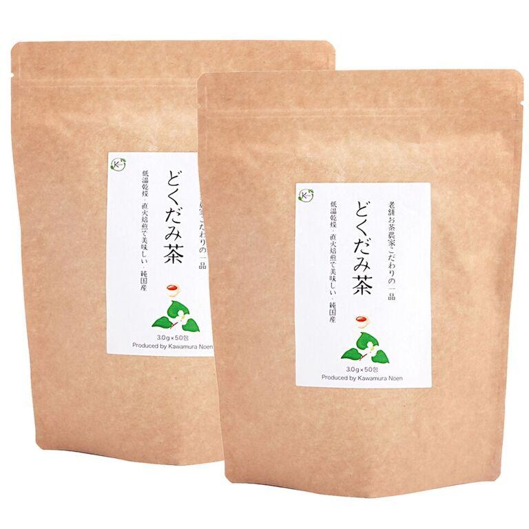 どくだみ茶 無農薬 国産 3g×150包(50包x3袋)低温乾燥 直火焙煎 お徳用 ティーバッグ ノンカフェイン ドクダミ茶 健康茶 送料無料