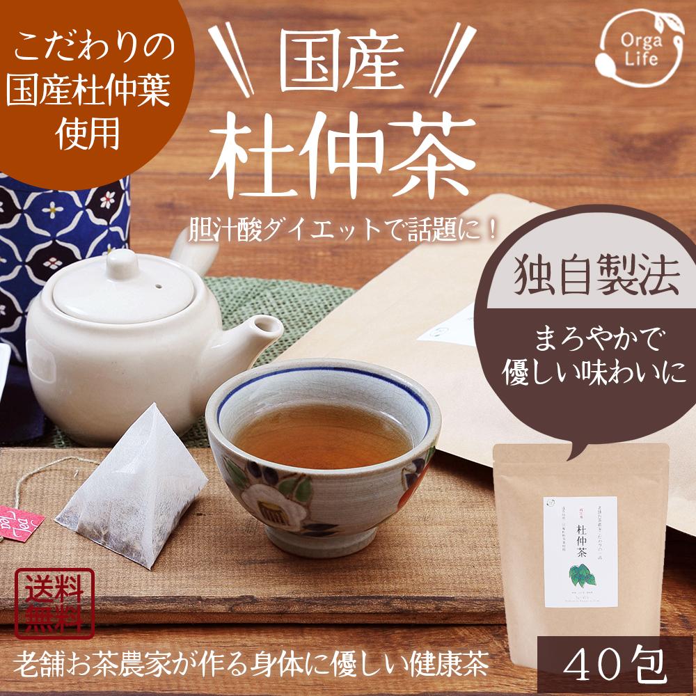 杜仲茶 国産 ティーバッグ 3g×40包 遠赤焙煎 送料無料 健康茶 杜仲茶 トチュウ茶 とちゅう茶
