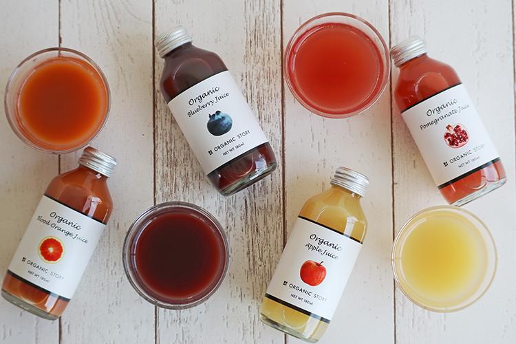オーガニックりんごジュース(ストレート果汁100%)