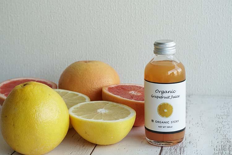 【NEW】オーガニックグレープフルーツジュース(ストレート果汁100%)
